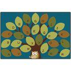 Owl-Phabet Tree Teal Area Rug Rug Size: 8' x 12'