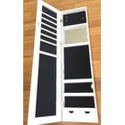 Frameless Over the Door Jewelry Armoire with Mirror Color: White