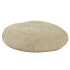 Round Dog Bed Color: Linen, Size: 50