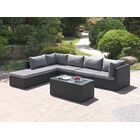 7 Piece Sectional Set with Cushions Color: Modern Black