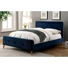 Lanell Upholstered Platform Bed Size: Twin, Color: Navy