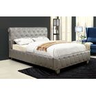 Upholstered Panel Bed Size: King, Color: Silver