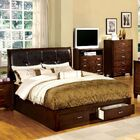 Lucas Upholstered Storage Platform Bed Size: Full, Color: Dark Walnut