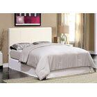 Upholstered Platform Bed Size: King, Color: White