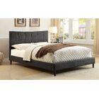 Shatnawi Upholstered Panel Bed Color: Dark Gray, Size: Full