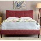 Ennis Upholstered Platform Bed Size: California King, Color: Red
