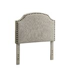 Ally Upholstered Panel Headboard Upholstery: Teal, Size: King