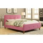 Betty Upholstered Platform Bed Size: Queen, Color: Pink
