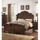 Liao Panel Bed Size: Califonia King, Color: Dark Brown