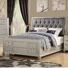 Moss Upholstered Panel Bed Size: Queen