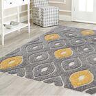Darwin Platinum Shag Gray/Yellow Area Rug Rug Size: Rectangle 8' x 10'