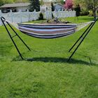 Poirier Cotton Double Hammock with Stand Color: Cool Breeze