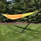 Noah Double Hammock with Stand Color: Tequila
