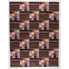 Khema 4 Hand-Woven Purple/Brown/Green Area Rug Rug Size: 5'6