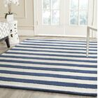 Leighton Hand-Tufted Navy/Ivory Area Rug Rug Size: Rectangle 6' x 9'