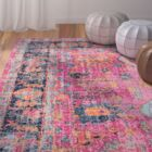 Ayush Pink Area Rug Rug Size: Rectangle 5' x 7'5