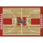 NCAA College Home Court Nebraska Novelty Rug Rug Size: Rectangle 7'8