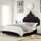 Casablanca Upholstered Panel Bed Color: Black, Size: Queen