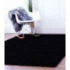 Black Area Rug Rug Size: 5' x 8'