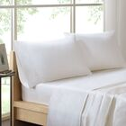 Poe 600 Thread Count Pima Solid Cotton Sheet Set Size: Queen, Color: White
