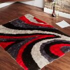 Hand-Tufted Red Area Rug Rug Size: 4'11