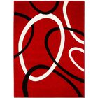 Circle Red Area Rug Rug Size: Rectangle 5'2