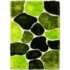 Hand-Tufted Green/Black Area Rug Rug Size: 4'11