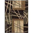 Lines Black Area Rug Rug Size: 7'9