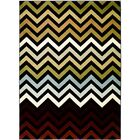 Black/Brown Area Rug Rug Size: 7'7