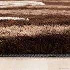 Hand-Tufted Brown Area Rug Rug Size: 4'11