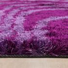 Hand-Tufted Purple/Pink Area Rug Rug Size: 4'11