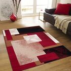 Hand-Woven Red Area Rug Rug Size: 5'2