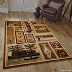 African Contours Brown Area Rug Rug Size: 3'9