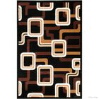 Hand-Woven Black Area Rug Rug Size: 7'7