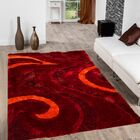 Hand-Tufted Red Area Rug Rug Size: 5' x 7'