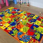 Green/Blue Area Rug Rug Size: Rectangle 4'11