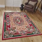 Hand-Woven Red Area Rug Rug Size: Rectangle 8' x 10'