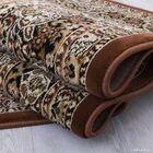 Arison All-Over Royal Patterned Brown Area Rug Rug Size: 6'7