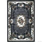 Andrews 18th Century Vintage Floral Bordered Gray Area Rug Rug Size: 7'10