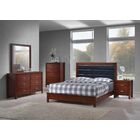Vanderhoof Panel 5 Piece Bedroom Set Bed Size: King, Color: Cherry