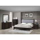 Vanarsdale Panel 5 Piece Bedroom Set Bed Size: California King, Color: Cappuccino/Dark Gray