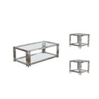 Hardnett 3 Piece Coffee Table Set Color: Silver