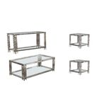 Hardt 4 Piece Coffee Table Set Color: Silver