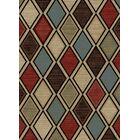 Vasser Jewel Ivory/Brown Area Rug Rug Size: Rectangle 7'10
