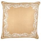 Embroidered Panel Silk Euro Pillow