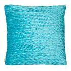 Rouching Velvet Throw Pillow Color: Aqua