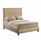 Hayley Upholstered Panel Bed Color: Brooke Pecan, Size: Queen