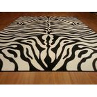 Hand-Carved Black/White Area Rug Rug Size: Runner 2'7