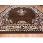 Hand-Carved Brown Area Rug Rug Size: Rectangle 10' x 13'