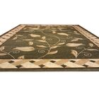 Hand-Carved Beige/Green Area Rug Rug Size: Rectangle 7'11